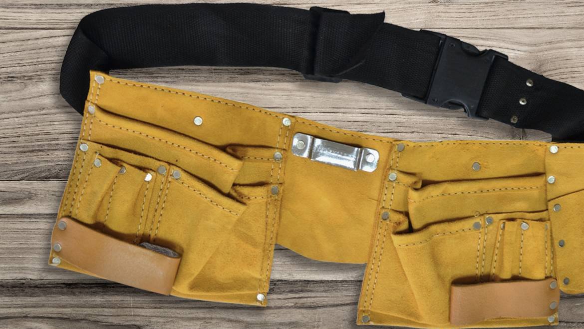 Special clothing, bags for tools